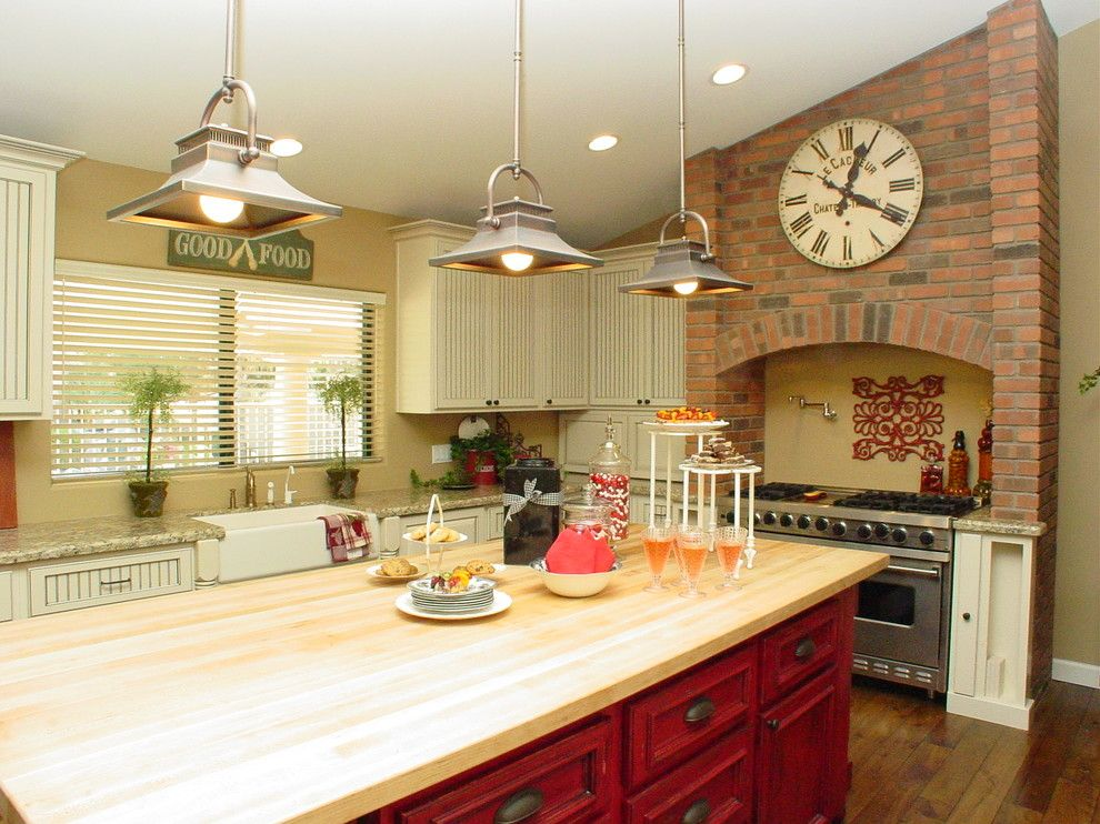 Potomac Valley Brick for a Contemporary Kitchen with a Wood Flooring and Tri Lite Builders Kitchen Remodeling Projects by Homework Remodels ~ Tri Lite Builders