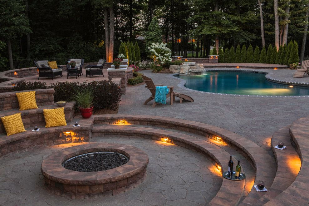 Potomac Valley Brick for a Contemporary Pool with a Contemporary and Belgard by Belgard