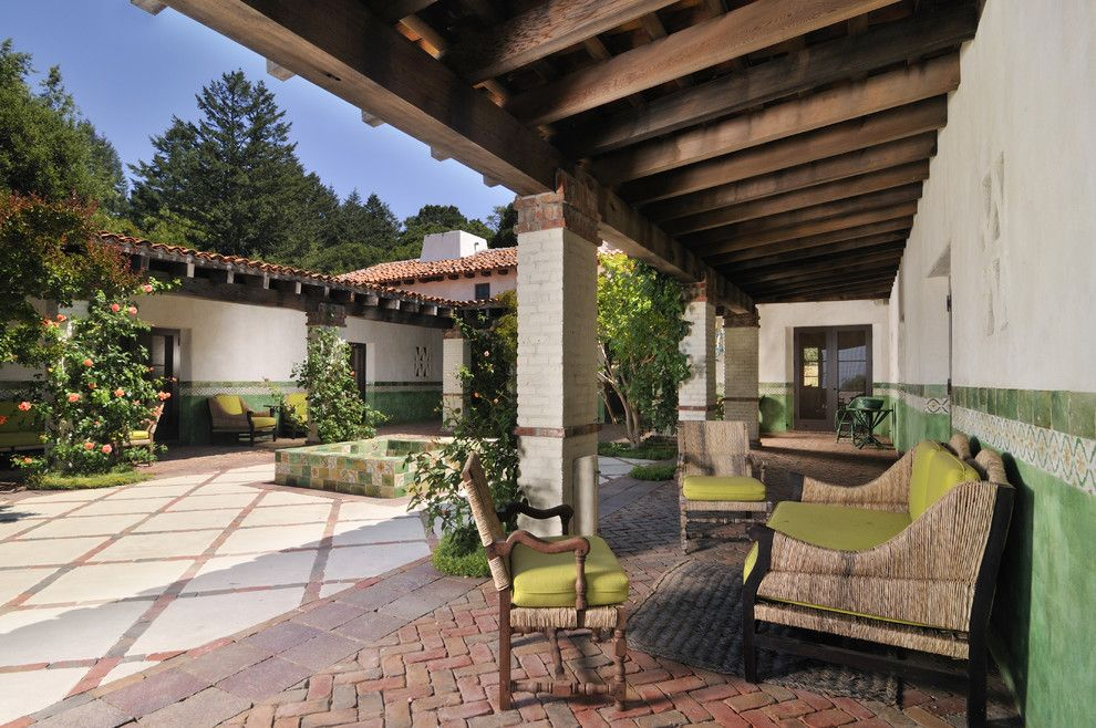 Potomac Valley Brick for a Southwestern Patio with a Covered Patio and Buffalo Valley Mission Ranch by Fgy Architects