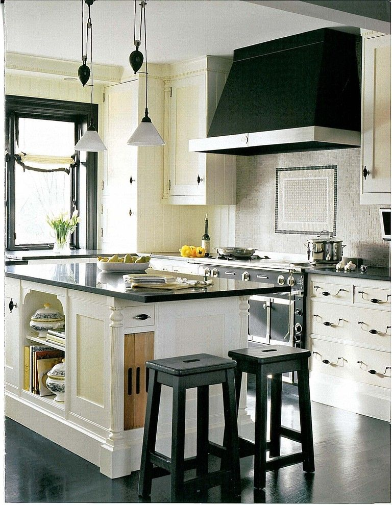 Restoration Hardware Boston for a Contemporary Kitchen with a Breakfast Bar and Overview of Kitchen by Dalia Kitchen Design