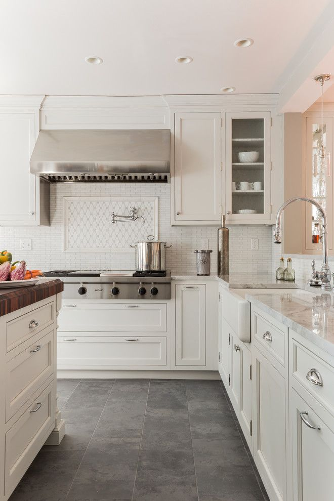 Restoration Hardware Boston for a Traditional Kitchen with a Polished Chrome Decorative Hardware and 1920's Two Family Outside Davis Sq by Venegas and Company