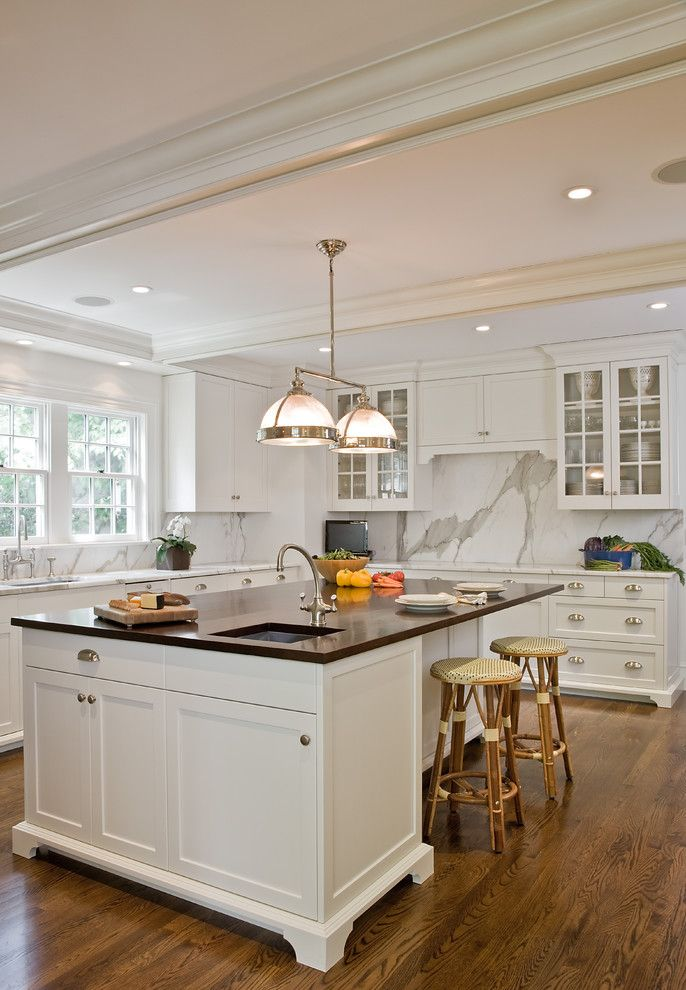 Restoration Hardware Boston for a Traditional Kitchen with a Recessed Lighting and Upscale Elegance by Dalia Kitchen Design