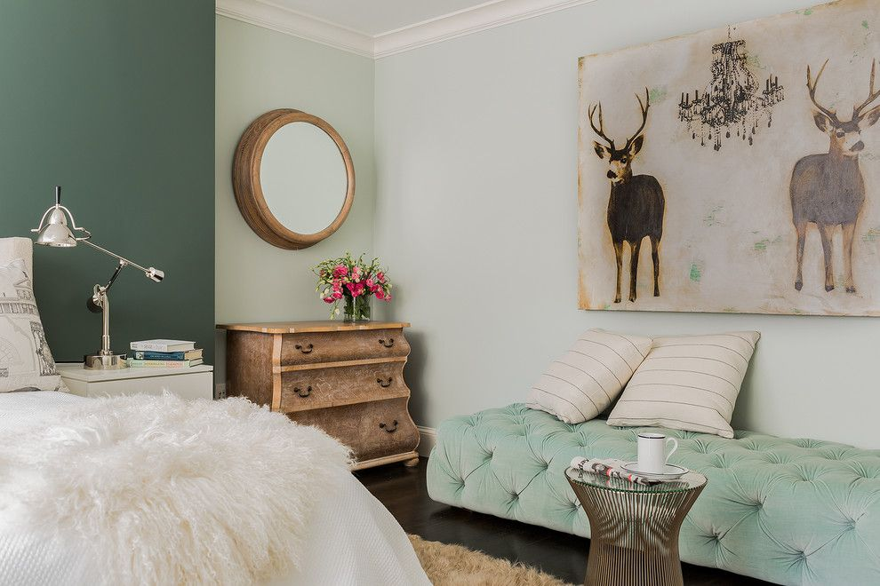 Restoration Hardware Boston for a Transitional Bedroom with a Cerused Oak and Newbury Street by Annie Hall Interiors
