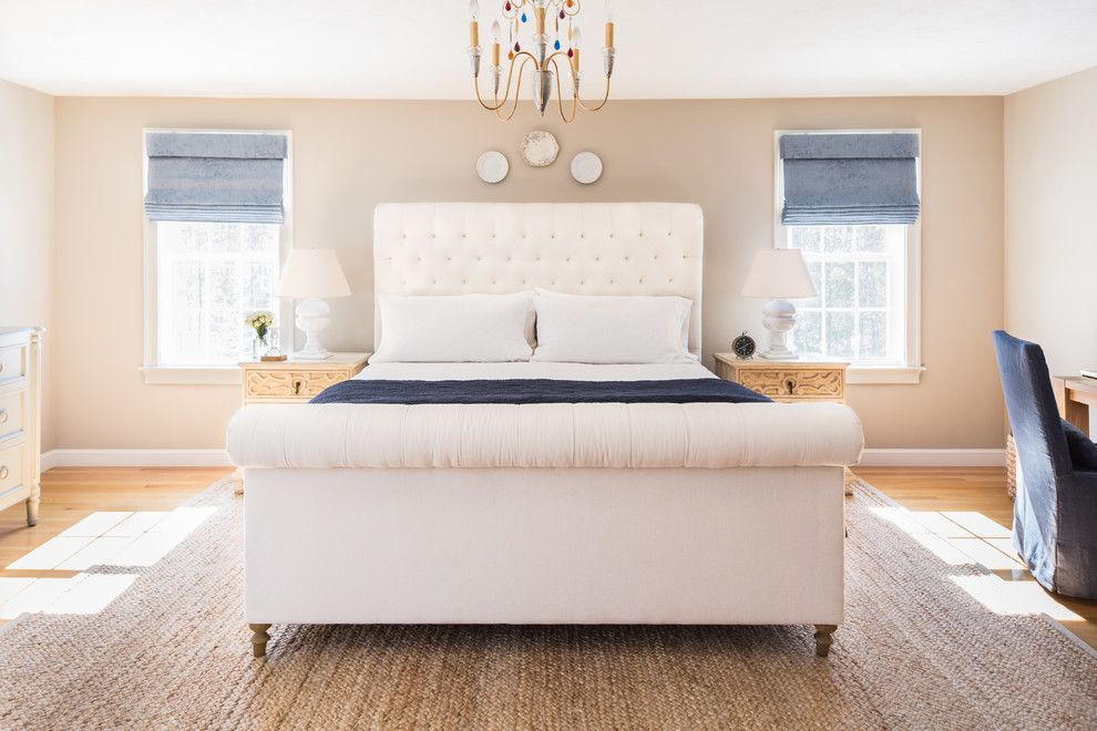 Restoration Hardware Boston for a Transitional Bedroom with a Costal and Bedroom Renovation by Kelly Mcguill Home
