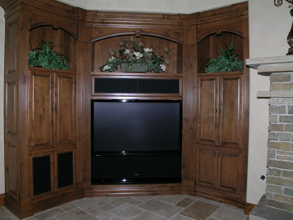 Rio Rancho Theater for a Mediterranean Family Room with a Home Automation and Kiwi Audio Visual by Kiwi Audio Visual