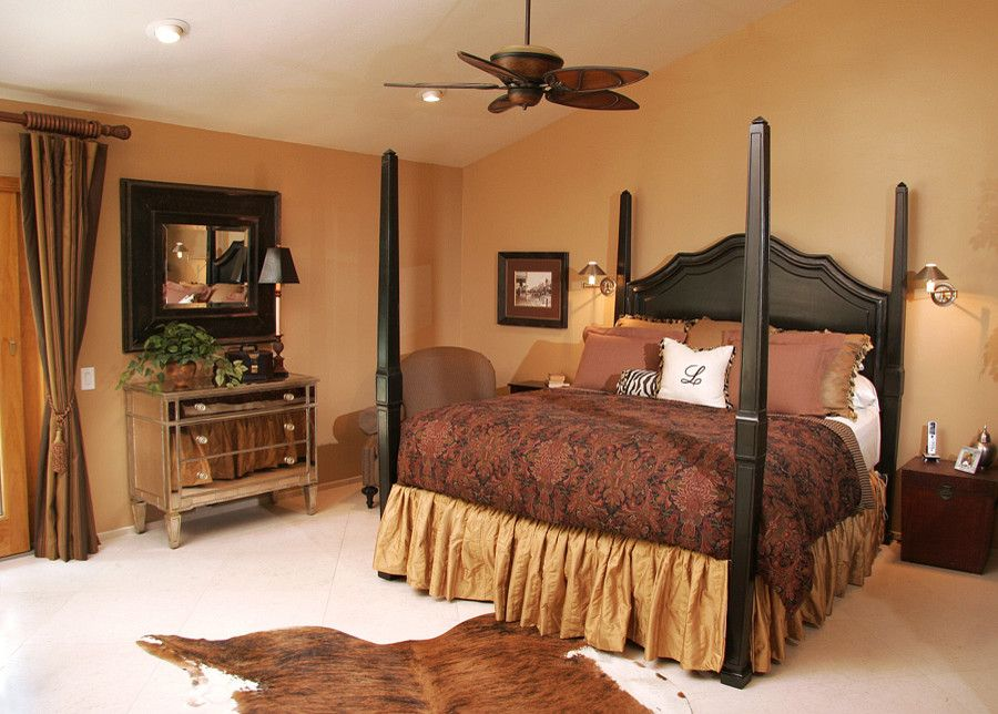 Rio Rancho Theater for a Traditional Bedroom with a Interior Designer and Global Chic Master Suite by Kerrie L. Kelly