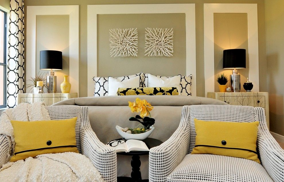 Romo Fabrics for a  Bedroom with a Bedroom and Interior Design Gallery by Masterpiece Design Group