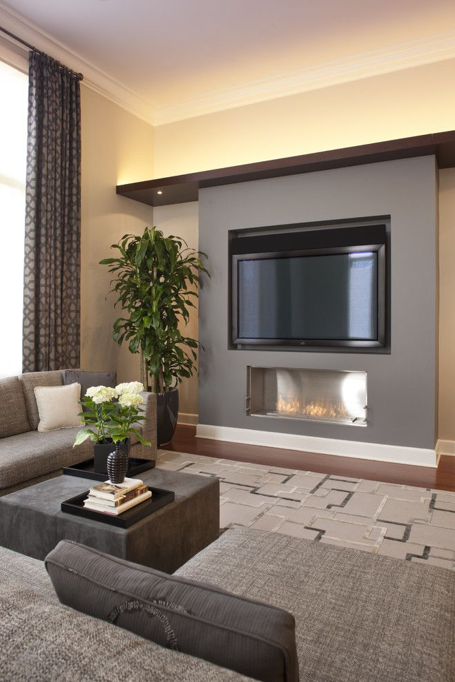 Romo Fabrics for a Contemporary Family Room with a Area Rug and Orchard Family Room B by Michael Abrams Limited
