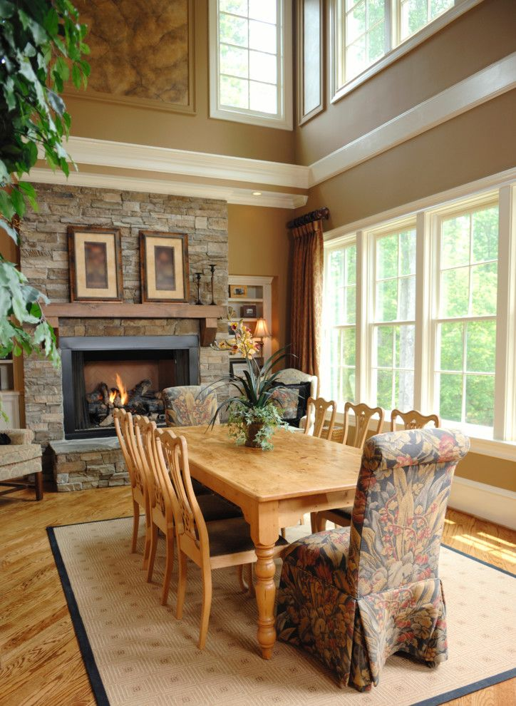 Romo Fabrics for a Traditional Dining Room with a Dining Room and Earthwise Windows & Doors by Earthwise Windows and Doors