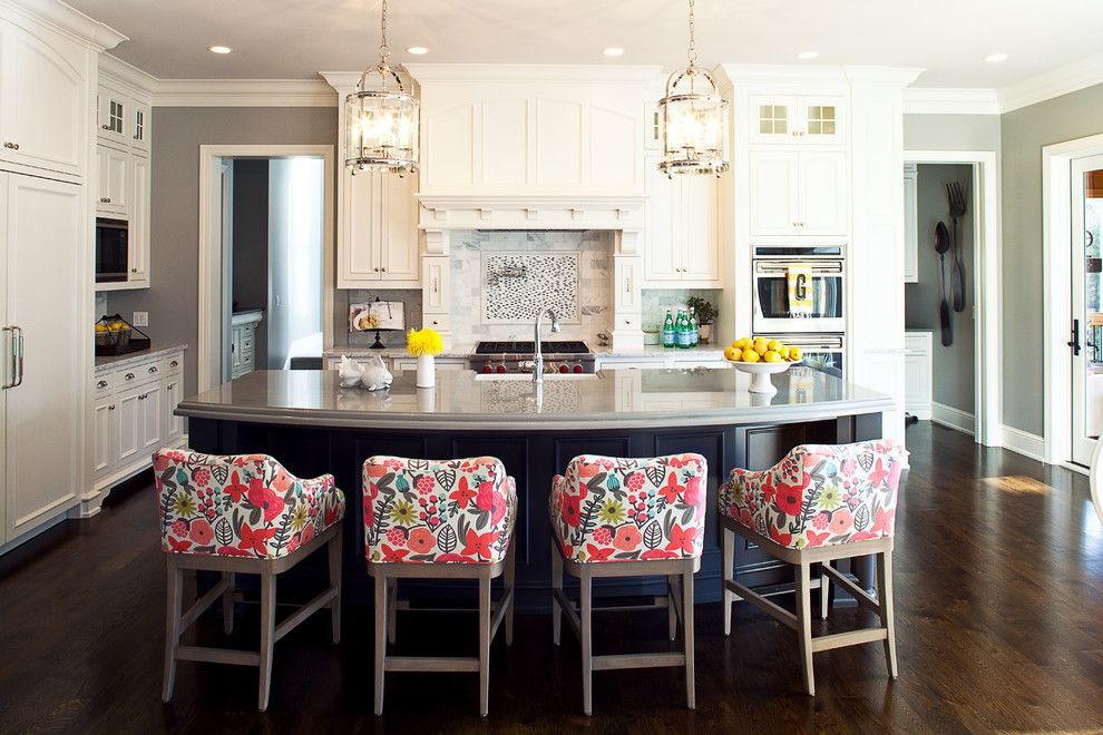 Romo Fabrics for a Traditional Kitchen with a Contemporary Kitchen and Minnesota Residence by Martha O'hara Interiors
