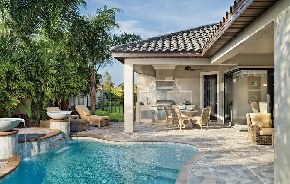 Rosewood Homes for a Beach Style Patio with a Custom Builder Space Coast and Coquina 1263 by Arthur Rutenberg Homes   Rosewood Homes, Inc.
