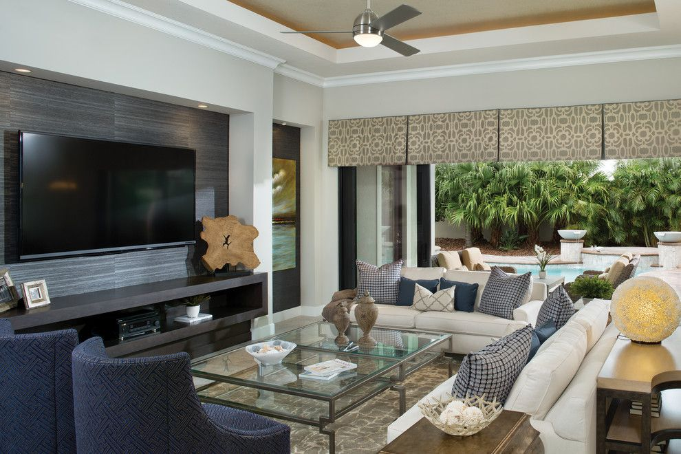 Rosewood Homes for a Contemporary Living Room with a Custom Builder Melbourne and Coquina 1263 by Arthur Rutenberg Homes - Rosewood Homes, Inc.