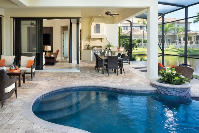 Rosewood Homes for a Contemporary Pool with a Custom Home and Miramar 1223 by Arthur Rutenberg Homes   Rosewood Homes, Inc.