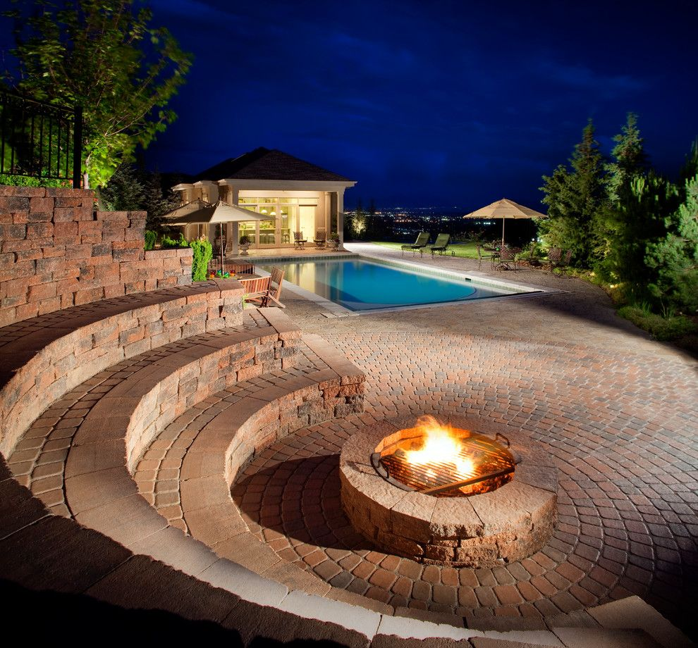 Rosewood Homes for a Traditional Patio with a Pool House and Belgard by Belgard