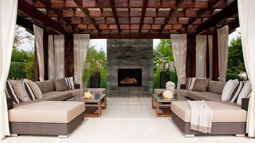 Sam Levitz Furniture for a Contemporary Patio with a Outdoor Furniture and Red Bird by Laguardia Design Group