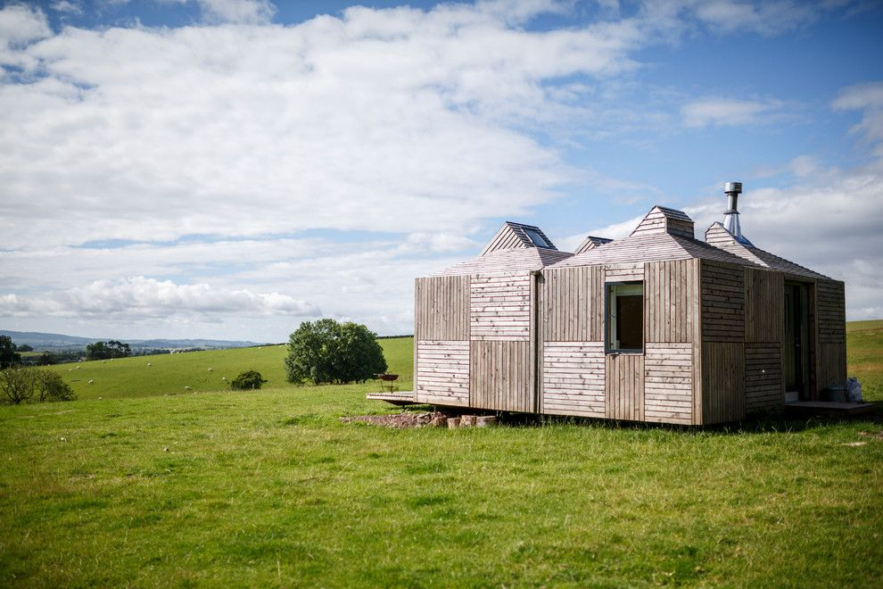 Sam Levitz Furniture for a Rustic Exterior with a Eco House and Brockloch Bothy by Echo Living