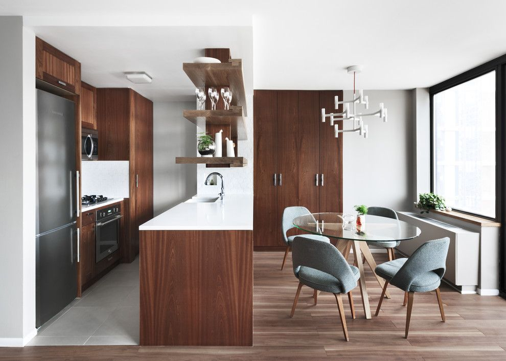 Sapele Wood for a Contemporary Kitchen with a Custom Cabinets and Contemporary Kitchen by genassembly.com