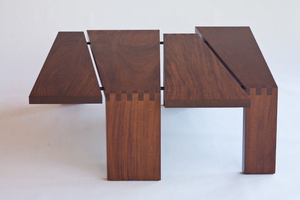 Sapele Wood for a Modern Spaces with a Modern and Sapele Wood Coffee Table by Finne Architects