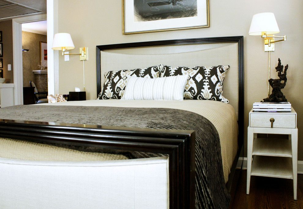 Schwing Electric for a Transitional Bedroom with a My Houzz and My Houzz: Newman Home by Mina Brinkey