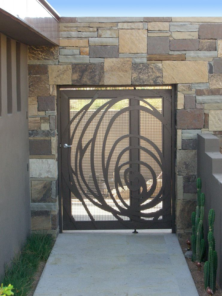 Scottsdale Gateway Apartments for a Contemporary Entry with a Contemporary and Scottsdale Custom Gate by Zeterre Landscape Architecture