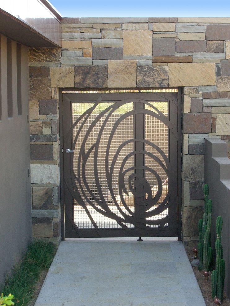 Scottsdale Gateway Apartments for a Contemporary Entry with a Contemporary and Scottsdale Custom Gate by Zeterre Landscape Architecture
