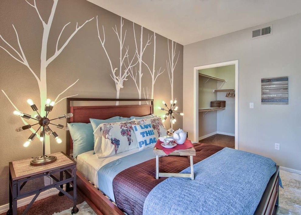Scottsdale Gateway Apartments for a Farmhouse Bedroom with a Small Bedroom and Scottsdale Model Home Ii by M.a.p. Interiors Inc. / Sylvia Beez