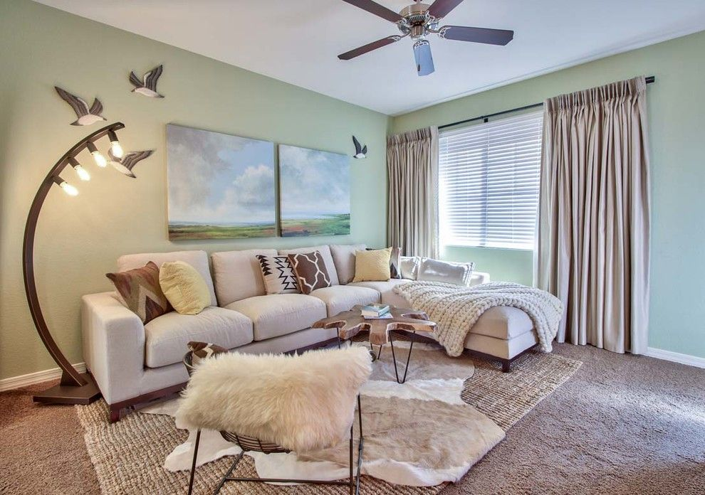Scottsdale Gateway Apartments for a Scandinavian Living Room with a Nature Inspired and Scottsdale Model Home Ii by M.a.p. Interiors Inc. / Sylvia Beez