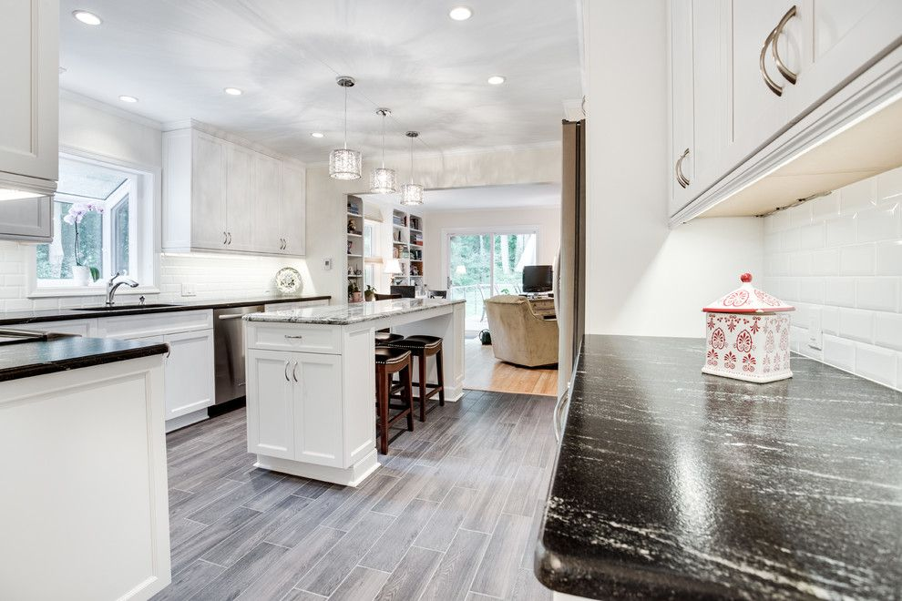 Sears Annapolis for a Transitional Kitchen with a Beveled Subway Tiles and Transitional Kitchen Remodel Edgewater, Md by Reico Kitchen & Bath by Reico Kitchen & Bath