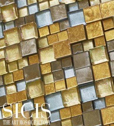Sicis for a Modern Spaces with a Artwork and Sicis the Art Mosaic Factory by Sicis the Art Mosaic Factory