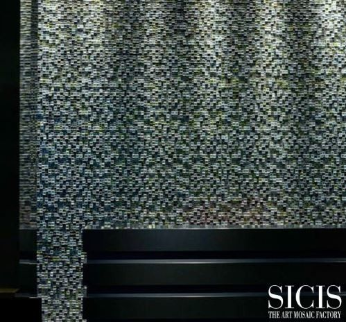 Sicis for a Modern Spaces with a Glass Mosaics and Sicis the Art Mosaic Factory by Sicis the Art Mosaic Factory