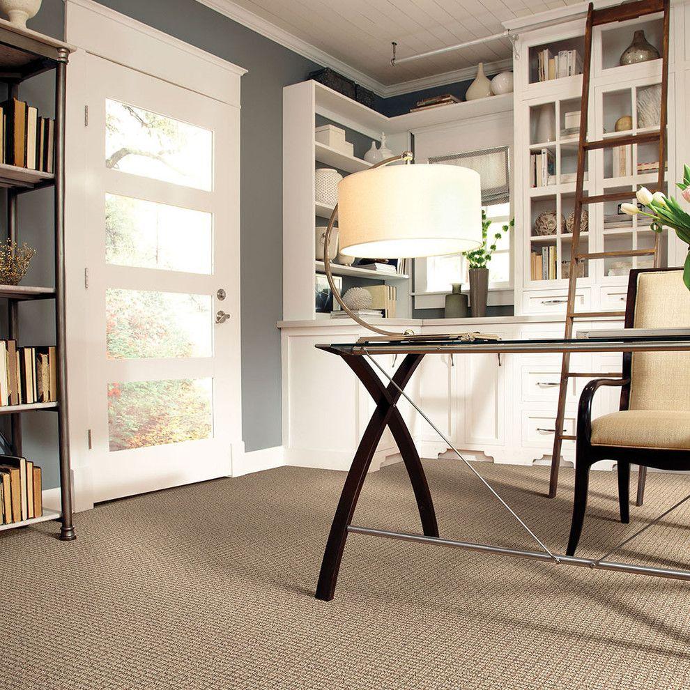 Soft Caress Mahonia for a Contemporary Home Office with a Contemporary and Caress by Shaw by Shaw Floors