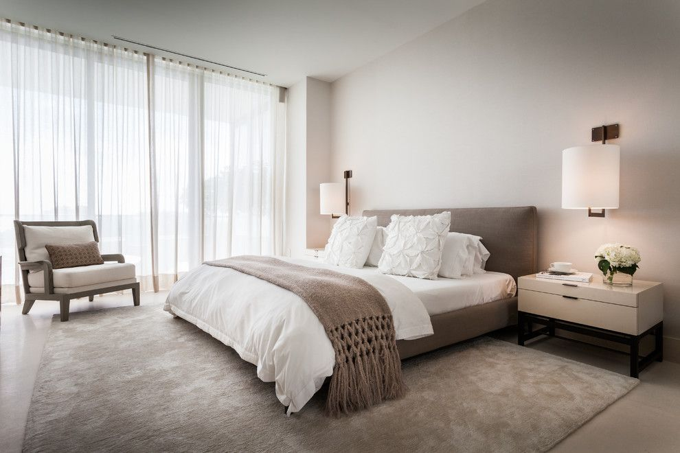 Sojo for a Contemporary Bedroom with a White Bedding and Apogee v by Sojo Design