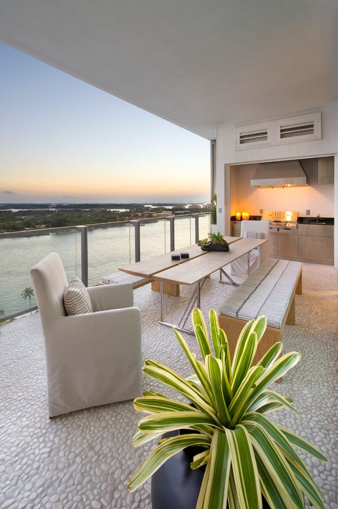 Sojo for a Contemporary Deck with a Outdoor Kitchen and Apogee by Sojo Design