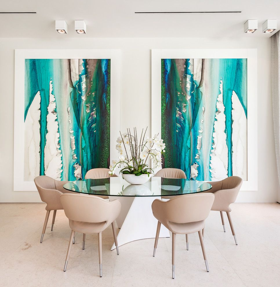 Sojo for a Contemporary Dining Room with a Beige Dining Chair and Kitchen Table by Sojo Design