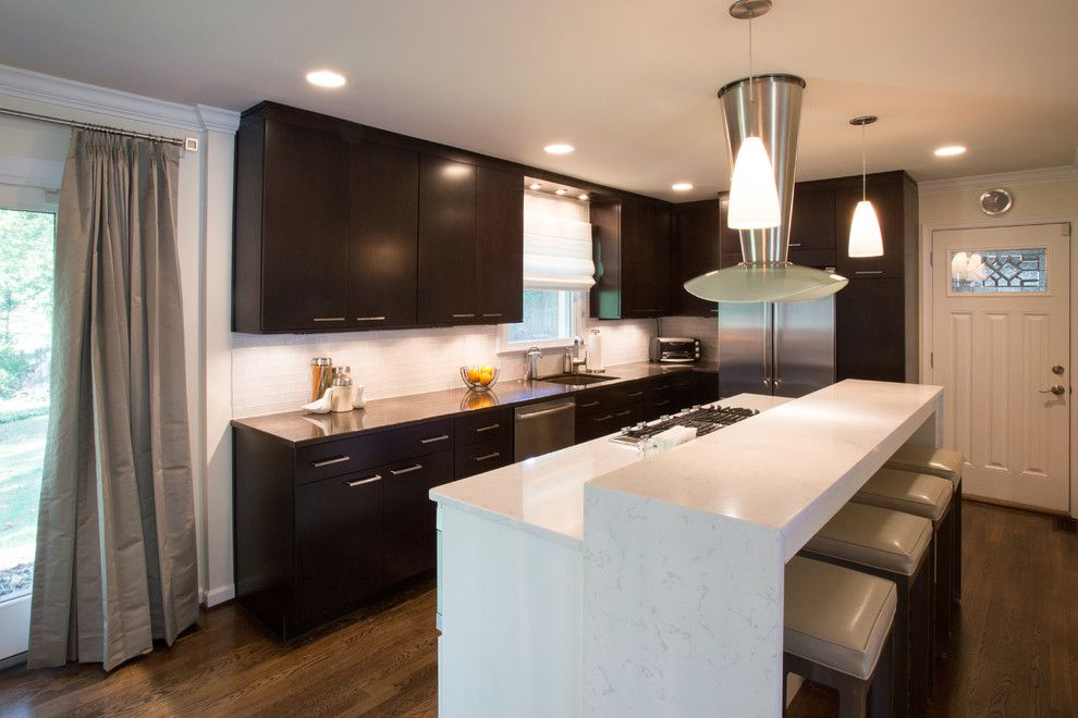 Solaire Silver Spring for a Modern Kitchen with a Modern Kitchen Cabinets Silver Spring and Silver Spring Modern Kitchen Design Remodel by Signature Kitchens Additions & Baths