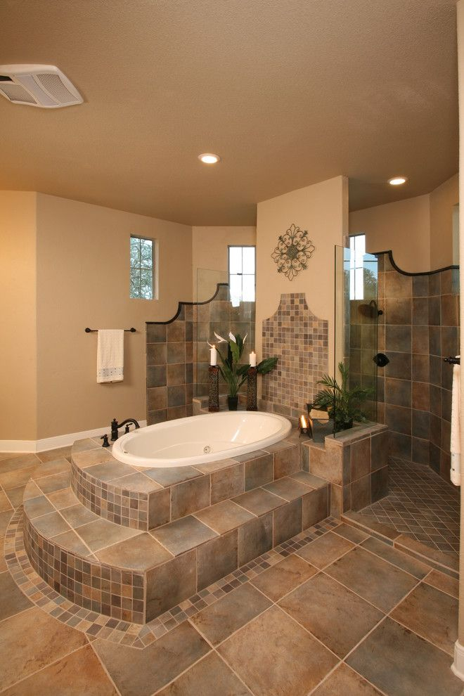 Solaire Silver Spring for a Traditional Bathroom with a Tile Shower Floor and 1414 River Way, River Crossing, Spring Branch Texas by Silver Oak Interiors