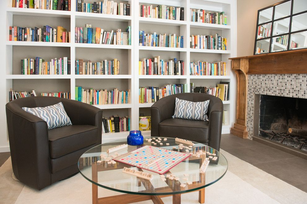 Southeastern Furniture for a Transitional Family Room with a Greige and Cool, Calm and Collected by Lulu Designs