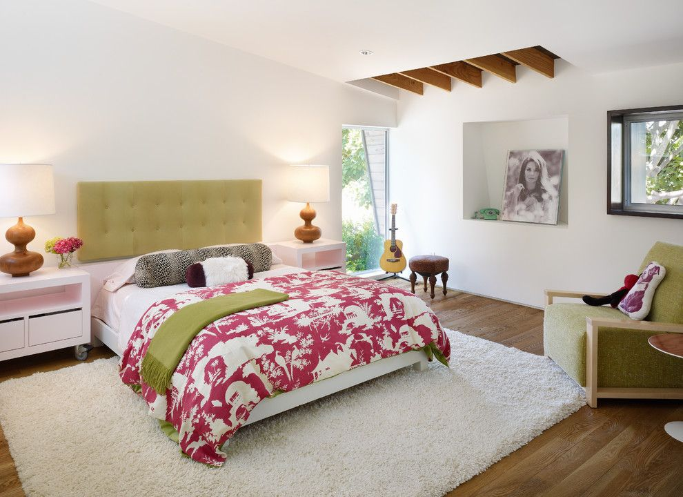 Stadium Lofts Anaheim for a Contemporary Bedroom with a Green Headboard and Contemporary Bedroom by Palandsmith.com
