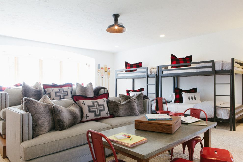 Stadium Lofts Anaheim for a Rustic Kids with a Red Accents and Ponder Point by Jodi Fleming Design