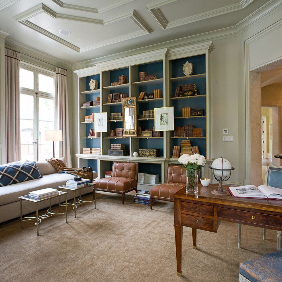 Suzanne Kasler for a Traditional Home Office with a French Provincial and William T Baker &associates, Atlanta, Ga by William T Baker