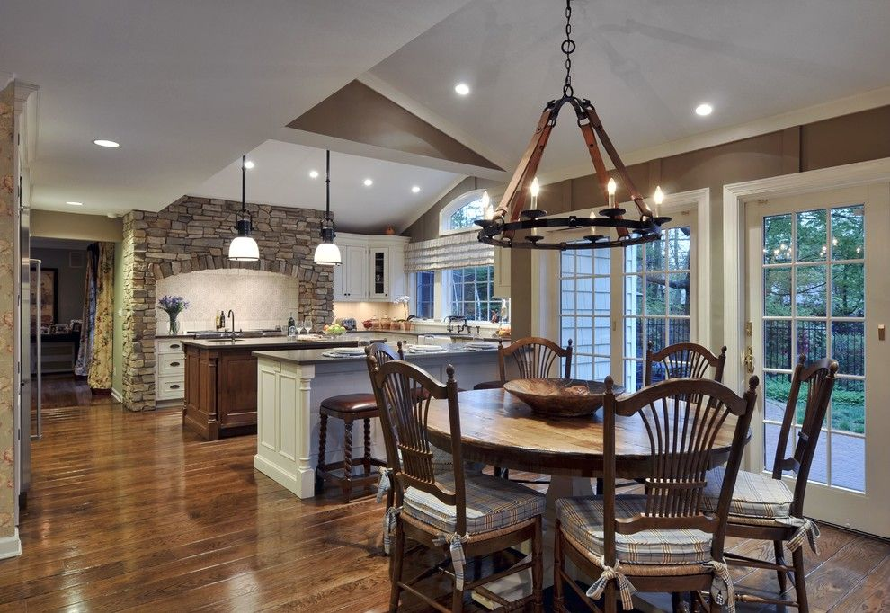 Suzanne Kasler for a Traditional Kitchen with a Kitchendining and Sophisticated Country Kitchen by Showcase Kitchens