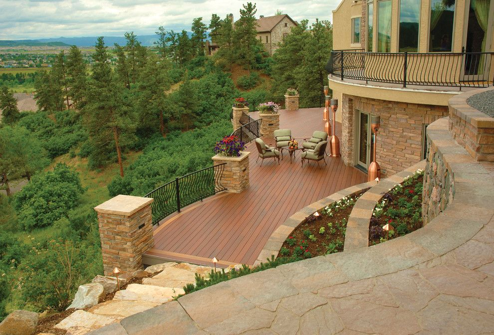 Tankless vs Tank Water Heater for a Rustic Deck with a Deck Designs and Fiberon by Fiberon Decking