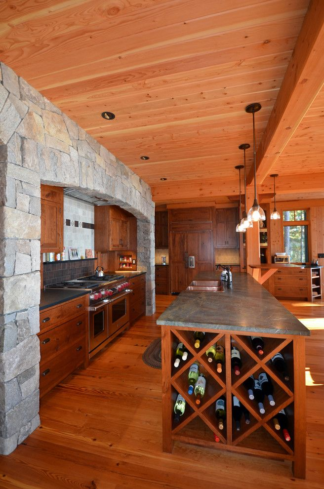 The Kitchen Portsmouth Nh for a Traditional Kitchen with a Wine Rack and Adirondack House Lakes Region, Nh by Bonin Architects &  Associates