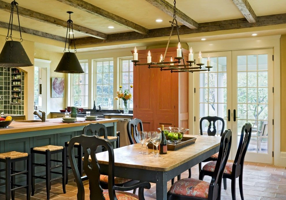 The Kitchen Portsmouth Nh for a Victorian Dining Room with a French Doors and Derby Hill Farm Lyme Nh by Smith & Vansant Architects Pc