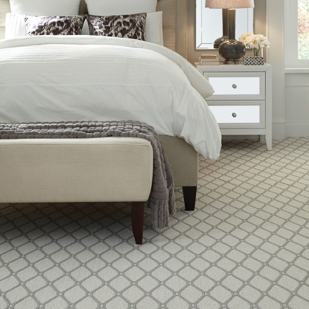 Timberline Construction for a Contemporary Bedroom with a Upholstered Bench and Marrakech by Tuftex Carpets of California