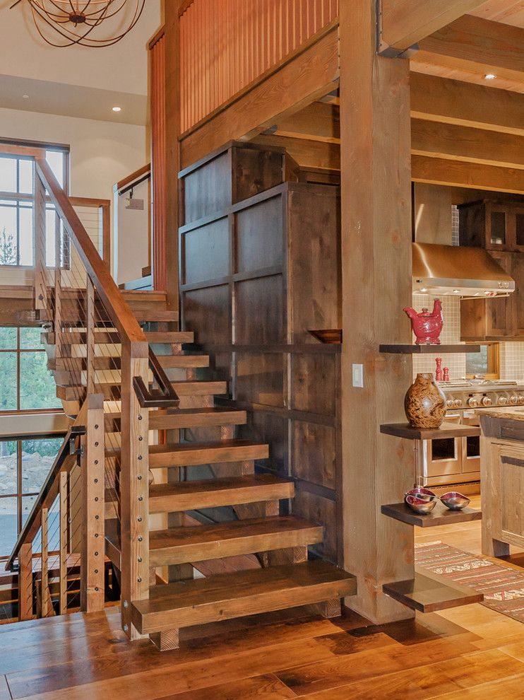 Timberline Construction for a Modern Staircase with a Stair Railing and Photo Contest July 2015 Honorable Mention by Feeney Inc.