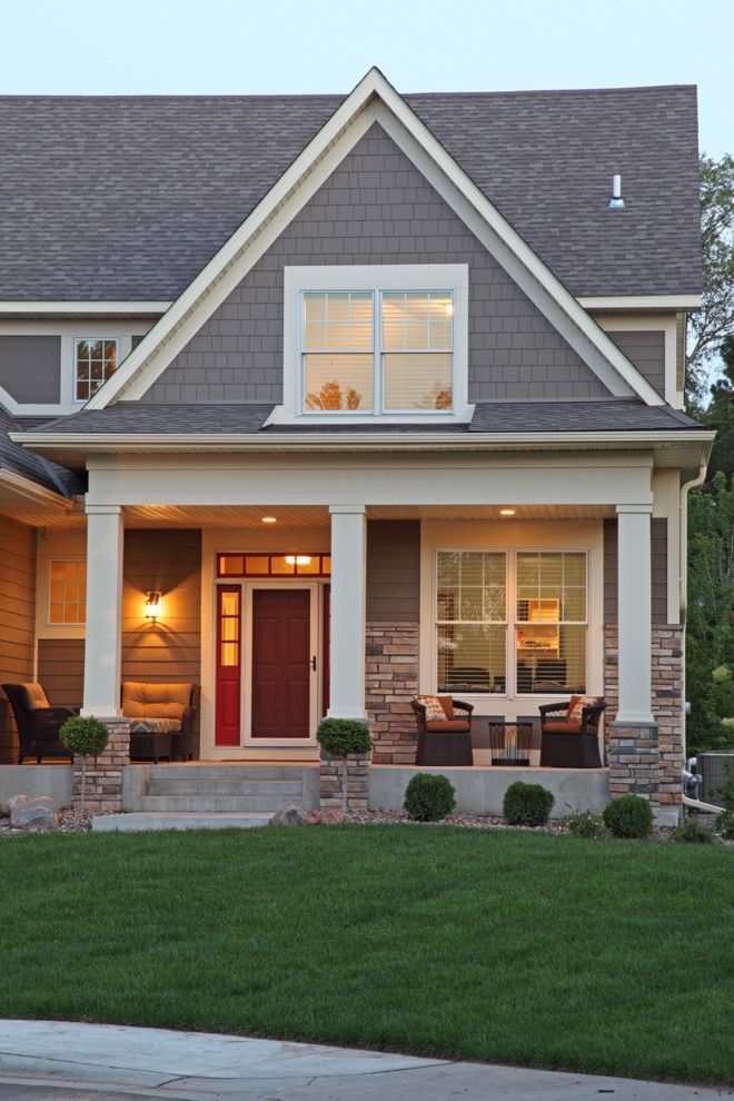 Timberline Construction for a Traditional Exterior with a Gray Shingle Siding and Ridgeview by Ridge Creek Custom Homes