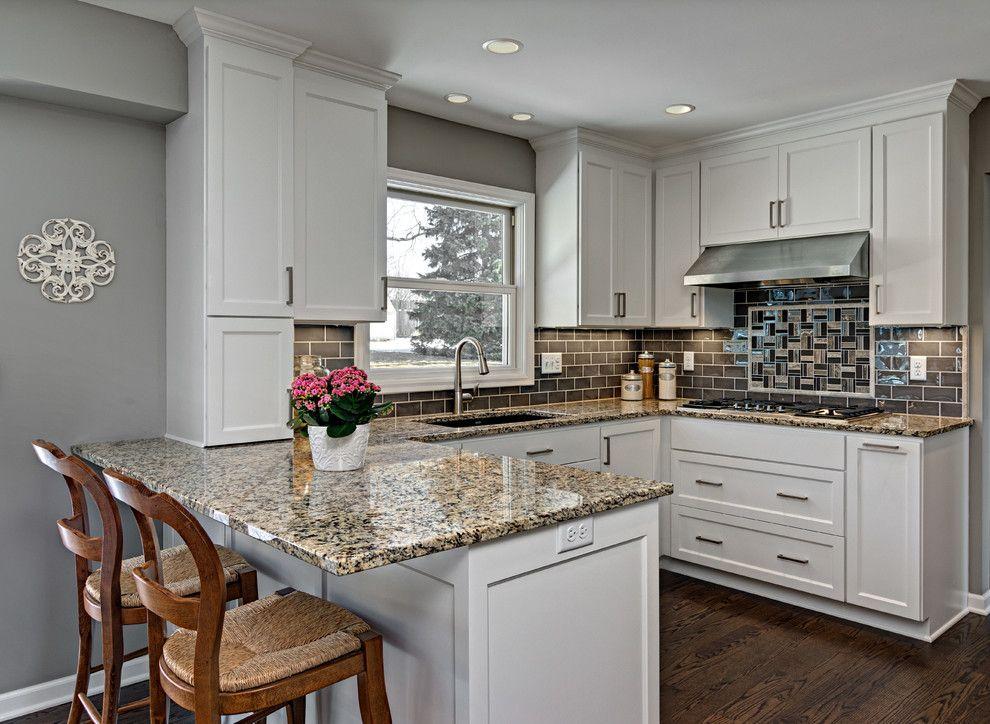 Timberline Construction for a Transitional Kitchen with a Subway Tile Backsplash and Spring 2015 Remodelers Showcase by Knight Construction Design Inc.