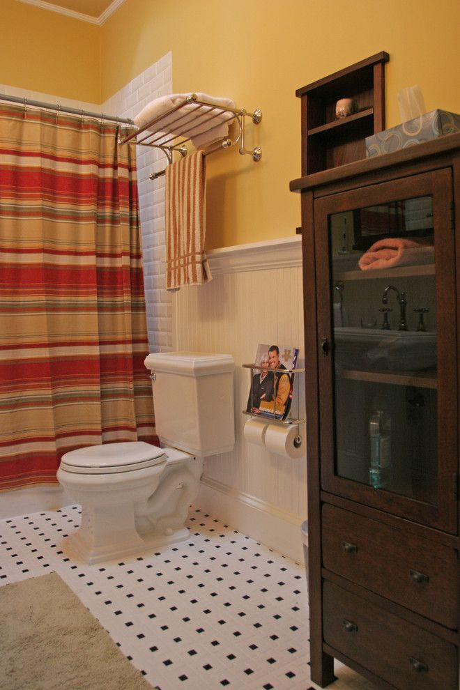 Toilet Paper Holder Height for a Traditional Bathroom with a Bathroom Tile and Traditional Bathroom Remodeling by Vv Contracting, Inc