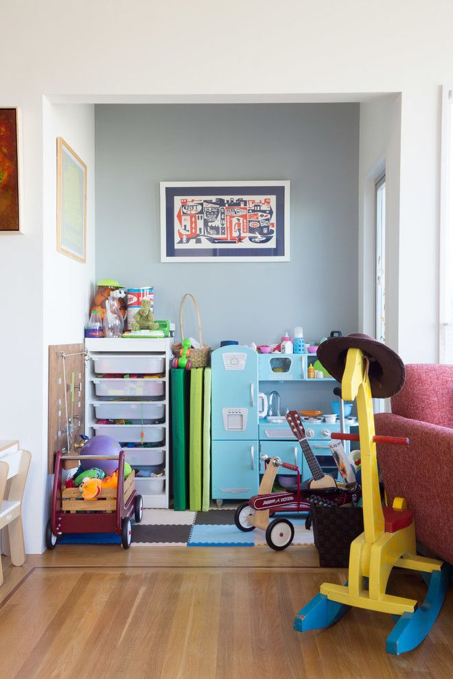 Trofast Ikea for a Contemporary Kids with a Framed Artwork and My Houzz: Bernal by Hoi Ning Wong